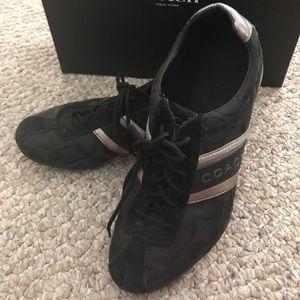 Coach Women's Shoes Sz 7 Black  Canvas Suede